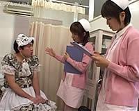 看護婦さんの包茎ちんぽイジメ