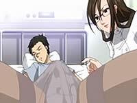 【アニメ】ドSなナースに彼女の前でフェラされてしまう