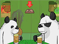 Drunk Pandas パンダのビール早飲み対決ゲーム