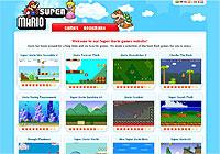 マリオが出てくるFlashばかり集めたゲームサイト「SuperMario.com」