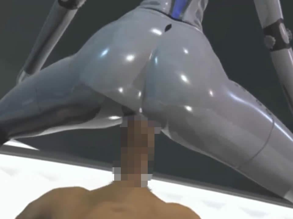 【3DCGエロアニメ】アンドロイドに襲われて超アクロバットに逆レイプされる男性