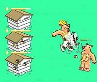 Swarm Control クマからハチミツを守るハチの防衛ゲーム