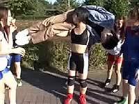 レスリング部の女子たちにバックブリーカーフェラされた......