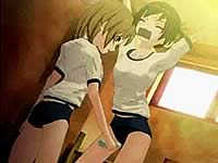 レズ女子校生に快楽漬けにされる少女のエロアニメ