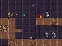 GLave ロボットが惑星を探索するアクションゲーム