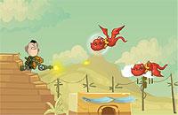 Alien Striker エイリアンをやっける横スクロールシューティングゲーム