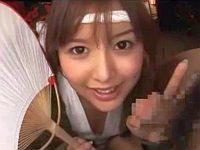 関西弁のお祭り娘にフェラしてもらおう