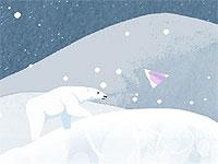 Alone in the light オーロラの欠片を探すシロクマのアクションゲーム