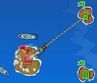 Colonial Wars 船を使って島を占領するゲーム
