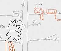 Draw a Stickman 絵を描いてお話を進めるアドベンチャーゲーム