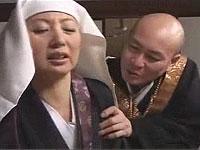貞淑な尼さんがエロ和尚に手ごめにされて......