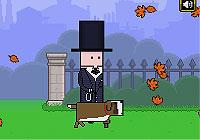 Autumn Walk 紳士が犬の散歩をするゲーム