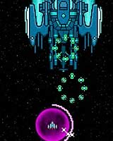 Star Glaive 敵の弾を吸収して攻撃するシューティングゲーム