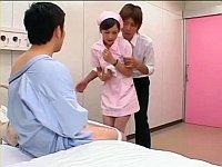 ピンクナースが患者を誘惑して3P