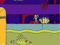 Tunny Dirt 女子校生が下水道の中とかを冒険するアクションゲーム