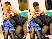 【台湾】電車の中でフェラしているカップルが目撃される