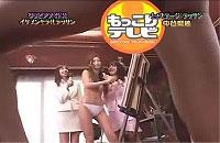 グラドル中谷梨紗が全裸の男性モデルを見ながらデッサンに挑戦