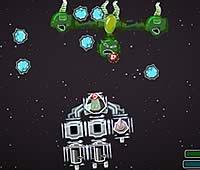 Galaxy Siege 宇宙船にパーツを追加して強化ゲーム