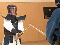 AV男優と戦い負けたら即中出しレイプの剣道対決!