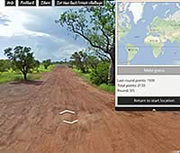Googleストリートビューの画像を見て場所当てゲーム