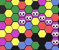GO Virus パネルの色を塗り替えるパズルゲーム