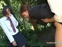 生徒の目の前でレイプされる女教師