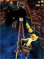 Rail Rush トロッコに乗って金塊を集めるアクションゲーム