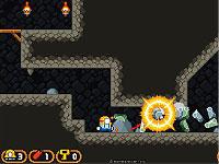 Dyna Boy ダイナマイトを使って炭鉱の中をすすむアクションゲーム