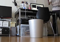 自分からゴミを拾いにいく自動ゴミ箱マシンを作ってみたよ