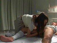 仕事終わりに病室に来て私服でフェラしてくれる看護師さん