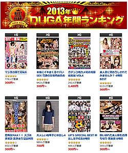 2013年 DUGA年間ランキング発表!一番人気のAVは......