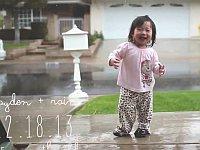 小さな女の子が生まれてはじめて雨に触れた日