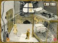 Gretel and Hansel 小石を集めて鬼母から逃げる、絵本風ちょいグロゲーム