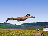 Nudist Trampolining 葉っぱ一枚あればいい!トランポリンゲーム