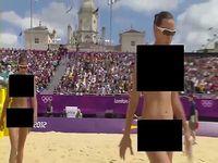 ビーチバレーの試合映像に黒塗り検閲を入れてみた結果www