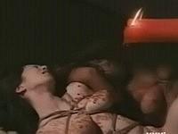二人のM女を緊縛蝋燭責めする和風SM