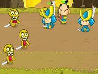BATTLE OF HEROES サムライ軍とモンスター軍の攻防ゲーム