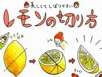知っておくと便利♪絞りやすいレモンの切り方