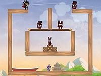 Ninja Bear 忍者クマが協力して敵をやっつけるゲーム