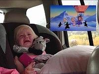 感動アニメを見て泣いてしまう幼女が可愛い