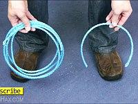 刃物が無い時にロープを簡単に切断する方法