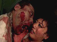 廃病院でゾンビに遭遇!逃げられずにレイプされてしまった巨乳娘