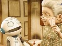 【3Dアニメ】お婆ちゃんとお手伝いロボットの家族愛