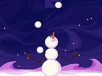 Snowball juggling Olympio 雪だるまくんのジャグリングチャレンジゲーム