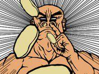 ピーナッツ鼻噴射! 鼻から噴射されるピーナッツを避けるゲーム