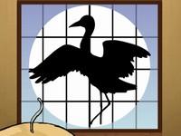 鶴の恩返し。この誘惑ヤバっ。 鶴を見分けて襖を開けるゲーム