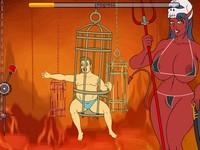 Jail Break 3 地獄に落とされた中年男が悪魔とSEXするエロフラッシュ