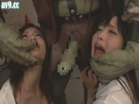 異種姦レイプ!醜いオークの巨大ペニスに堕ちた女たち