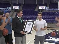 バスケットボールでギネス記録を次々と達成していく男たち!
