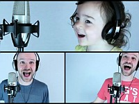 美声の父親と3歳の娘が『Take On Me』を歌って演奏してる動画が可愛すぎる